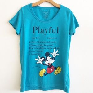 "DISNEY ""Playful"" Mickey Short Sleeve Tee Size M"